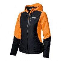Woman Orange Jacket